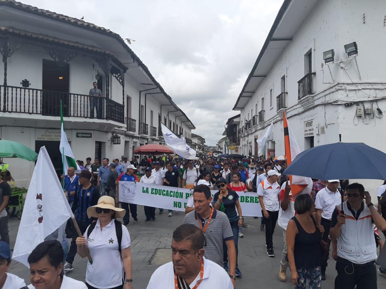 Manifestaciones de Fecode en Popayán.