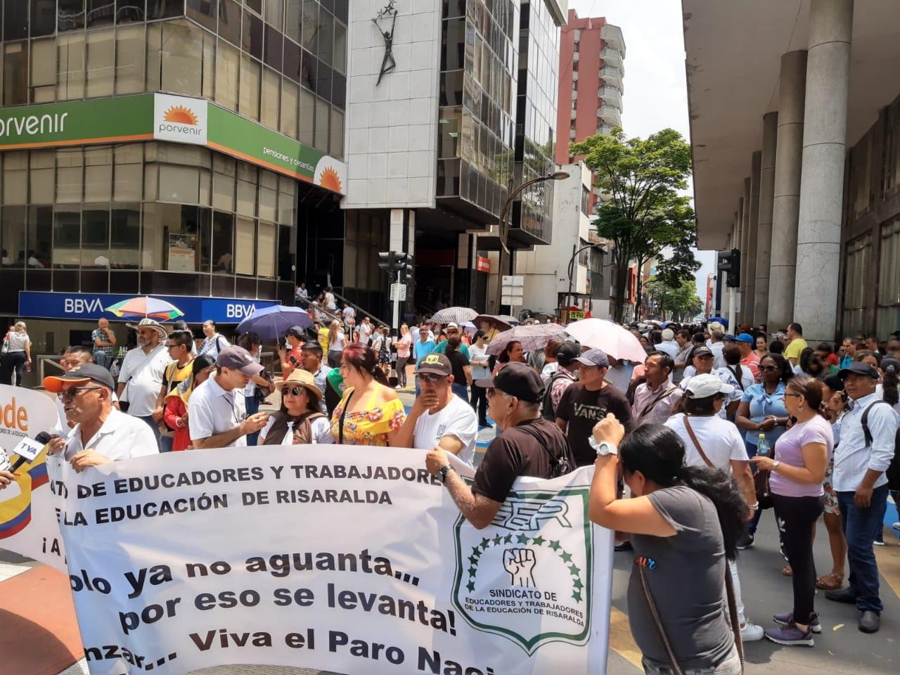Manifestaciones de Fecode en Pereira.