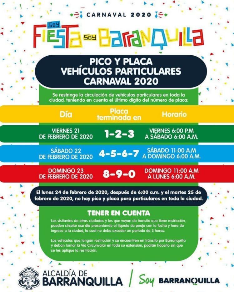 Pico y Placa Carnavales
