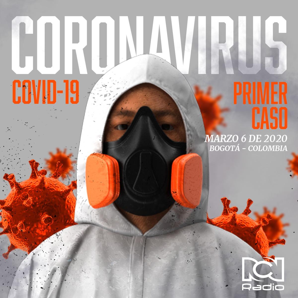 Infografía primer caso de coronavirus en Colombia