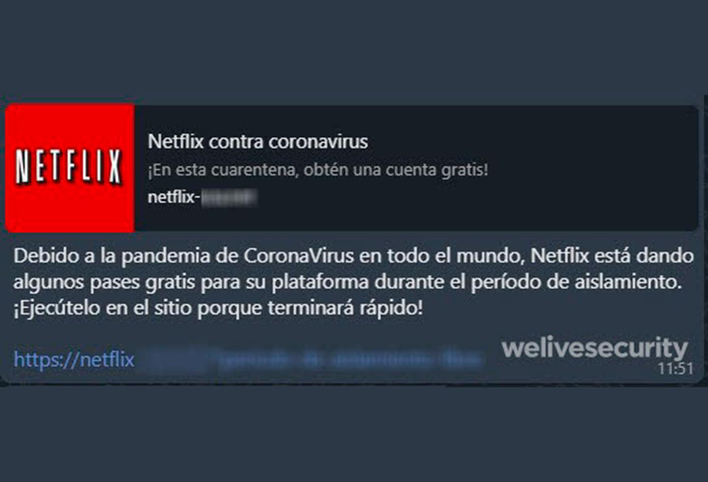Estafa con Netflix