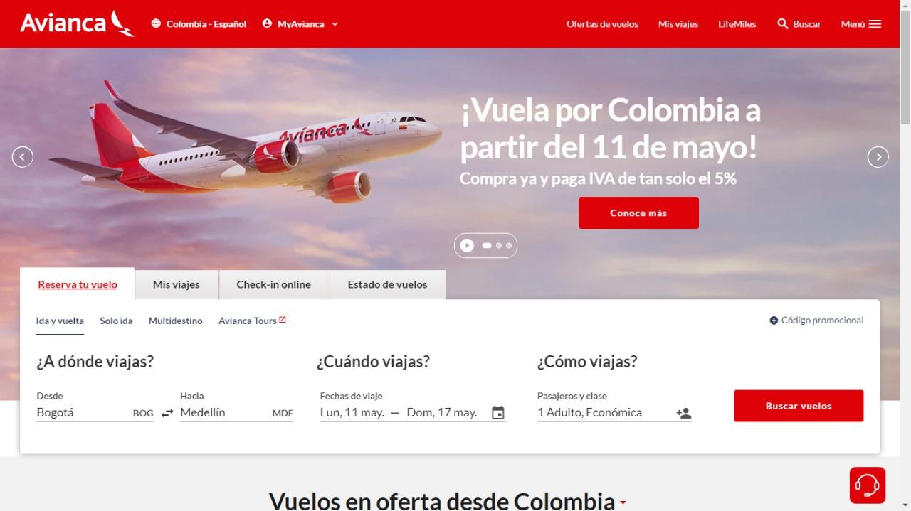 Avianca abre venta de vuelos