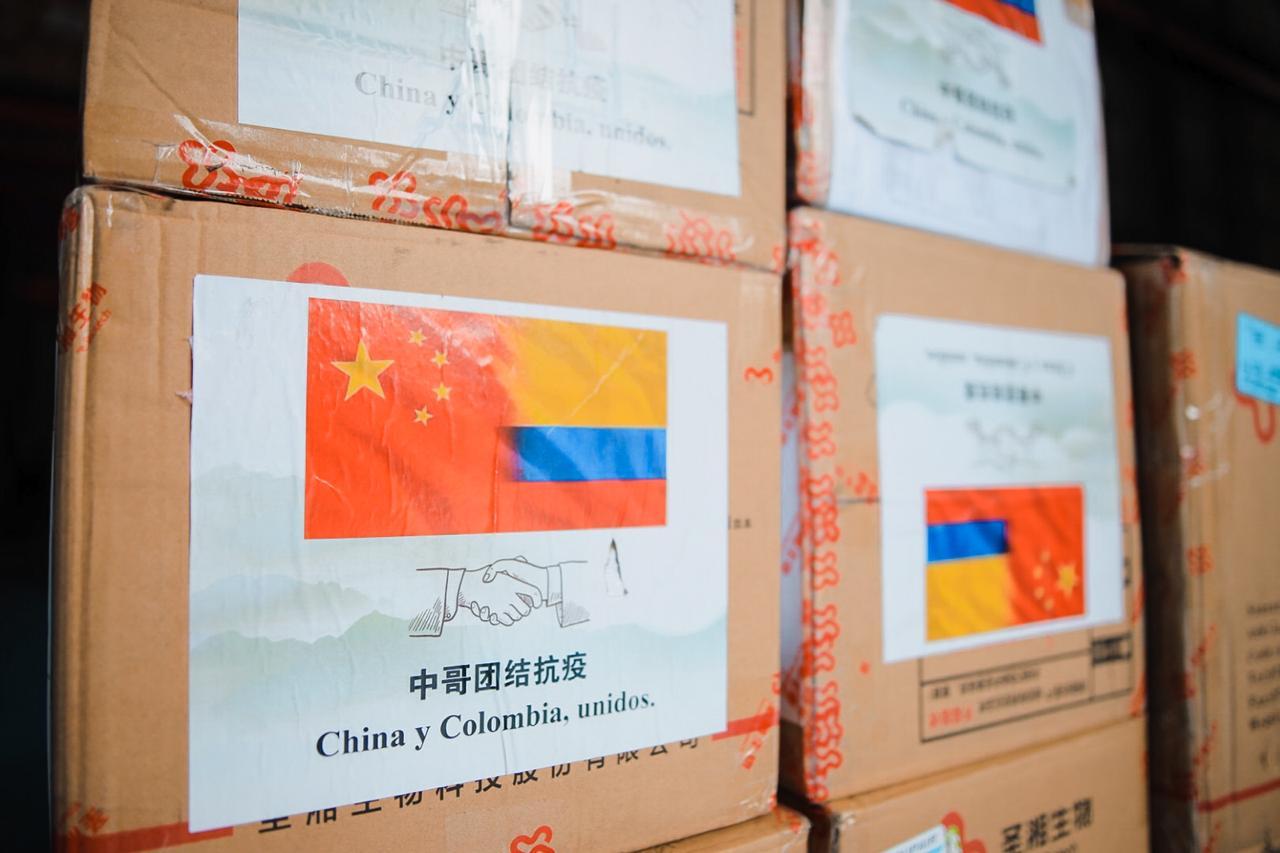Donaciones China a Colombia