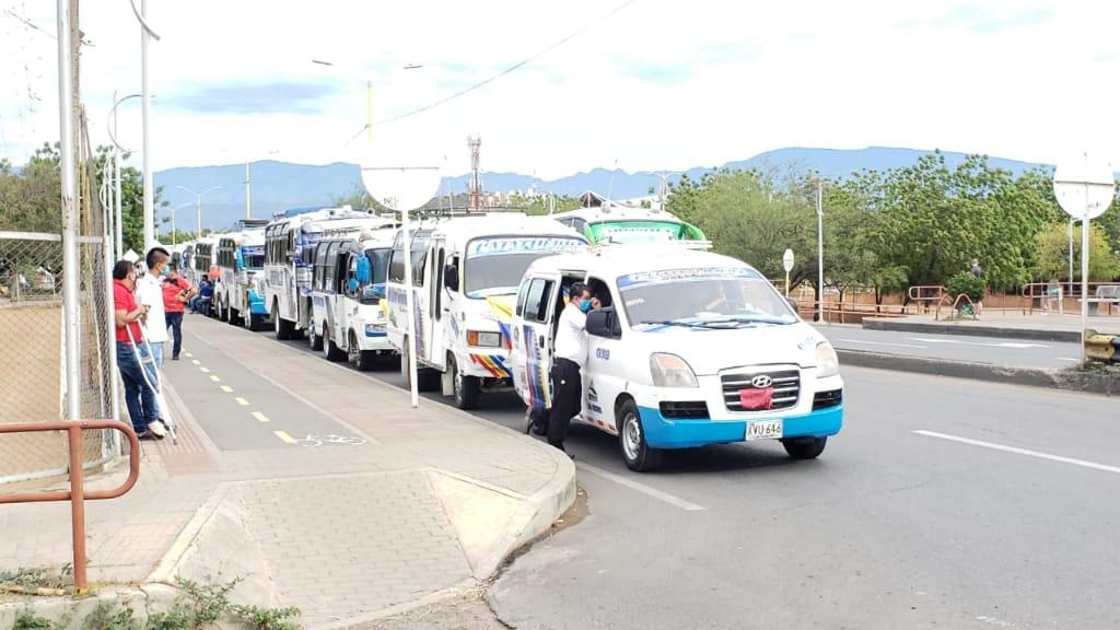 Manifestaciones de transportadores de Cúcuta.