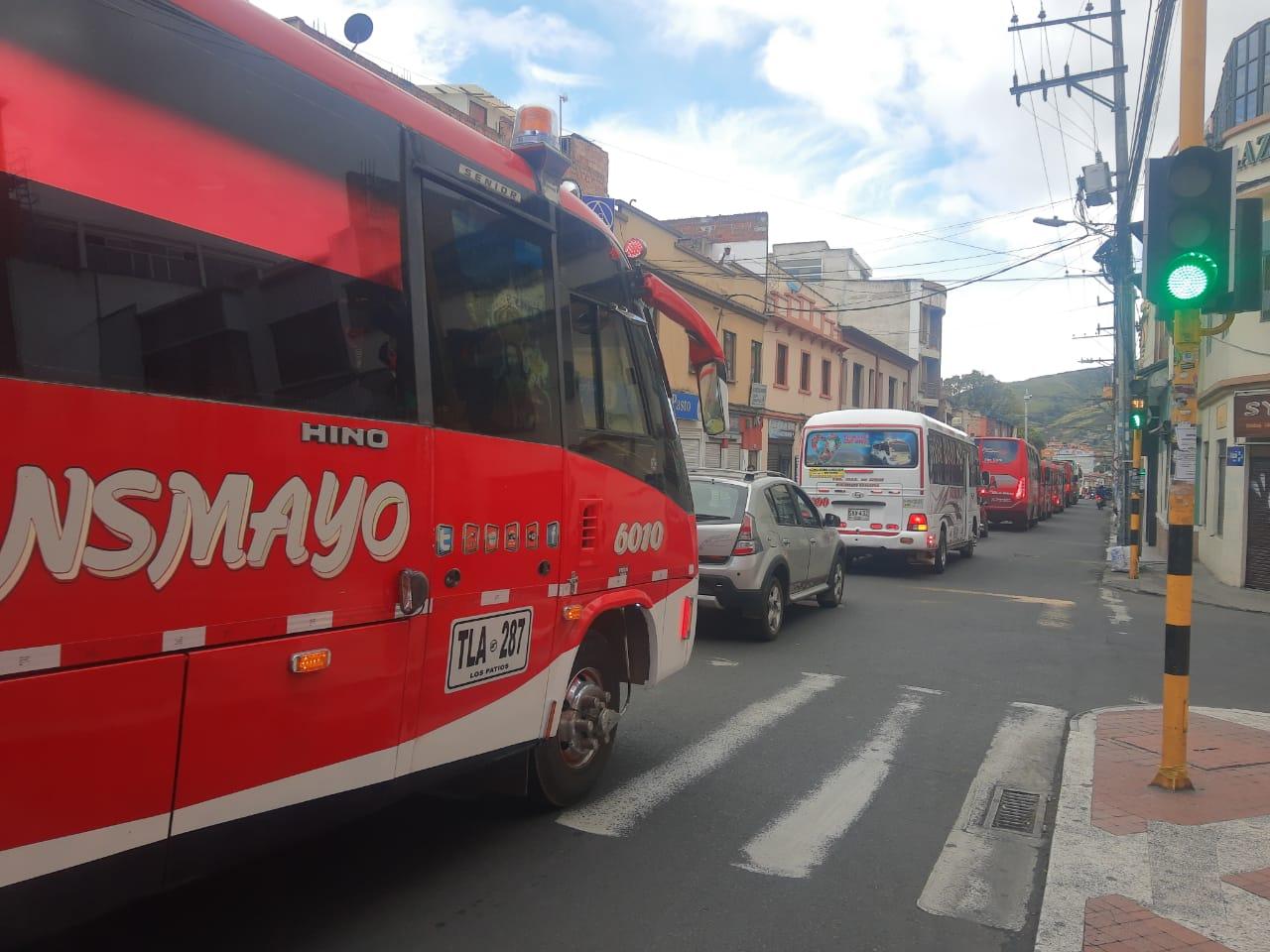 Manifestaciones de conductores en Pasto.