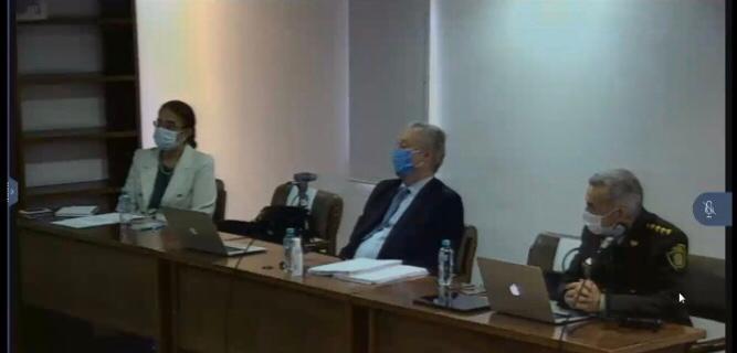 director de la policía Nacional, el general Oscar Atehortúa en audiencia