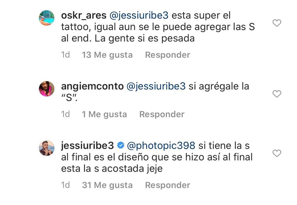 Captura del Instagram de Jessi Uribe