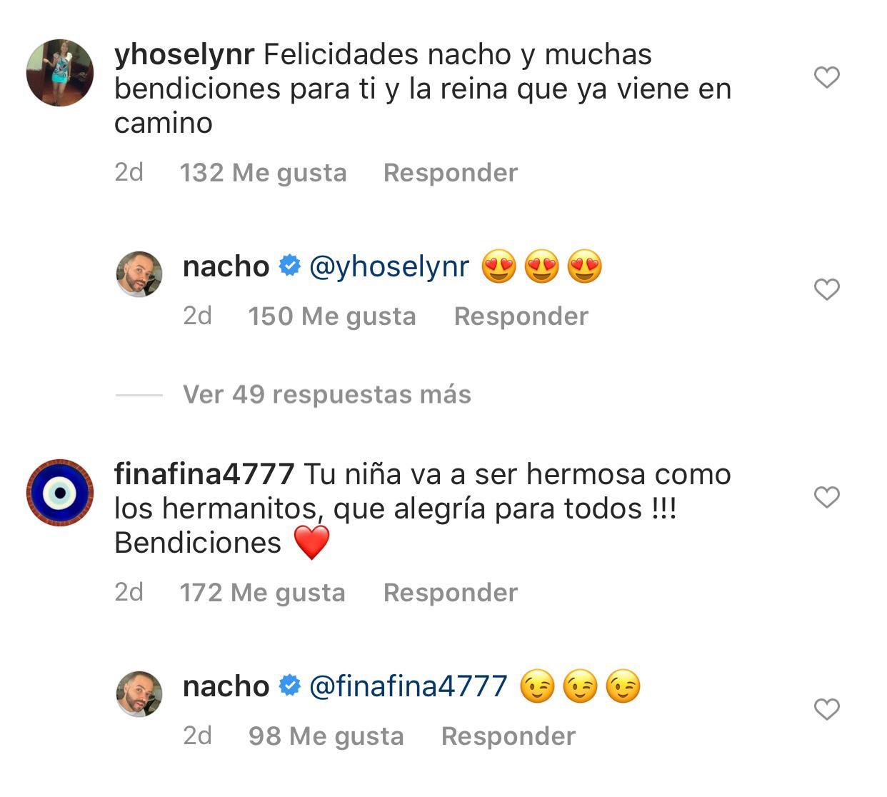 Captura del Instagram de Nacho