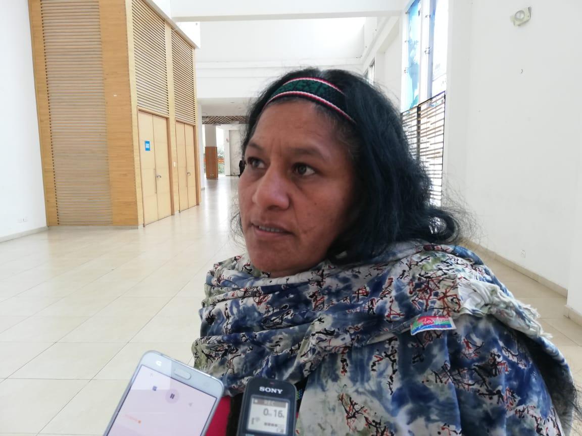 Aida Quilcué, líder indígena de Cauca.