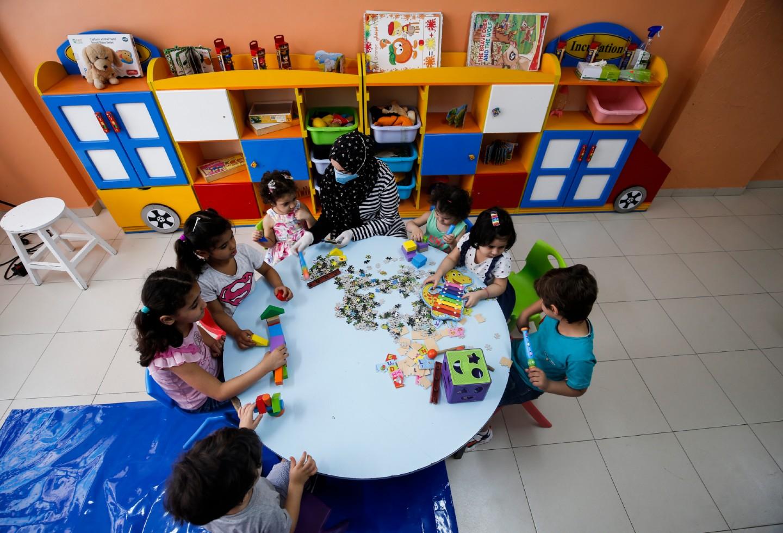 Coronavirus en Palestina / regreso de niños a colegios