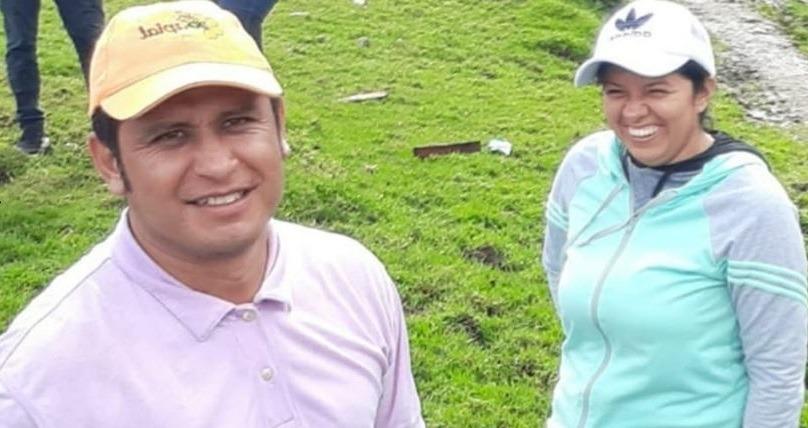 Líderes sociales de Algesiras, Naim Sánchez y Yanira Andrea Saavedra.