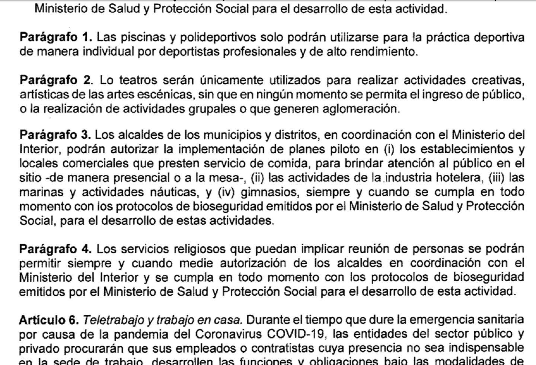 Decreto 990 de 2020, artículo 5, parágrafos 1, 2 y 3