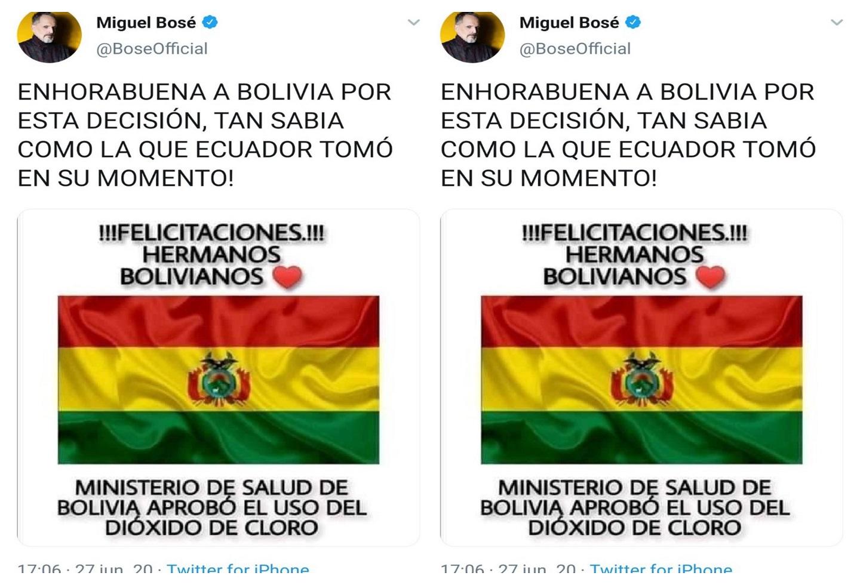 Miguel Bosé - Twitter