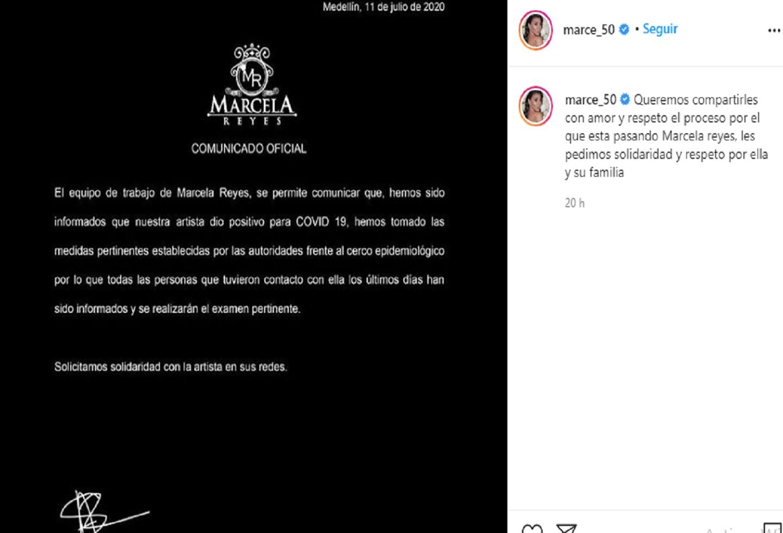 Marcela Reyes covid 19