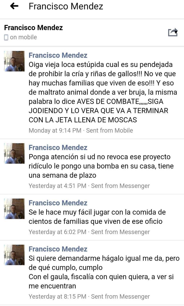 Amenazas contra la concejal Andrea Padilla