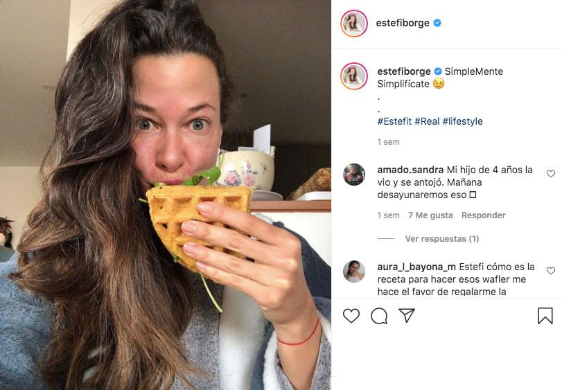 Estefanía Borge y la comida sana