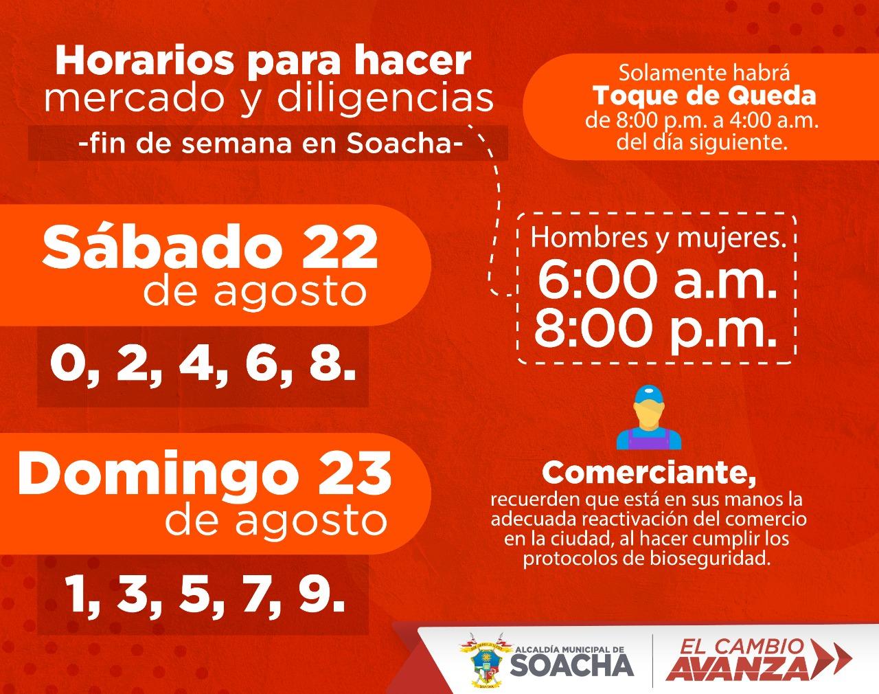 Toque de queda en Soacha para este fin de semana