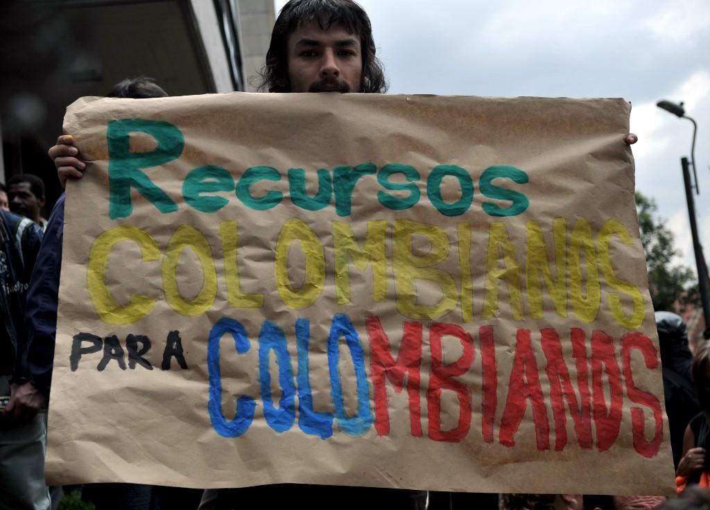 Ecologistas protestan en favor del páramo de Santurbán.