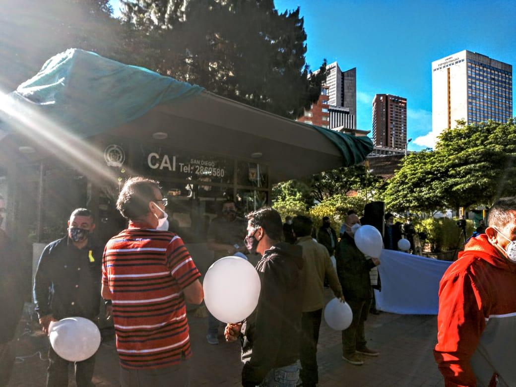 Comerciantes del centro de Bogotá recuperaron el CAI de San Diego