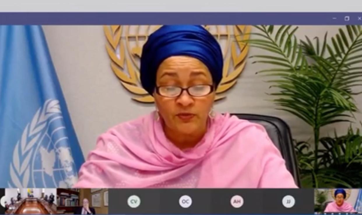 Amina Mohammed, secretaria adjunta de la ONU