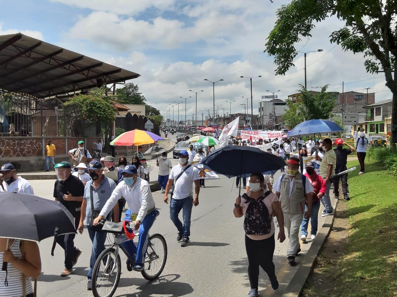 Manifestaciones Popayán.