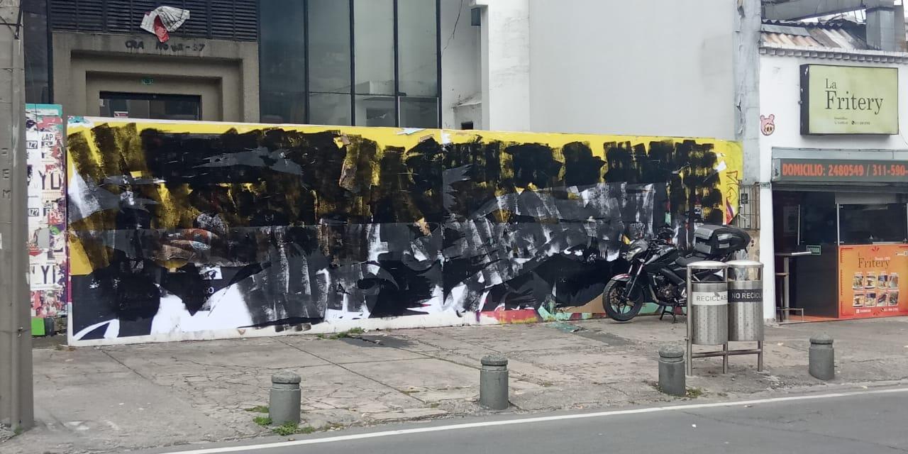Así quedó el mural que víctimas de falsos positivos pintaron sobre la carrera séptima con calle 62