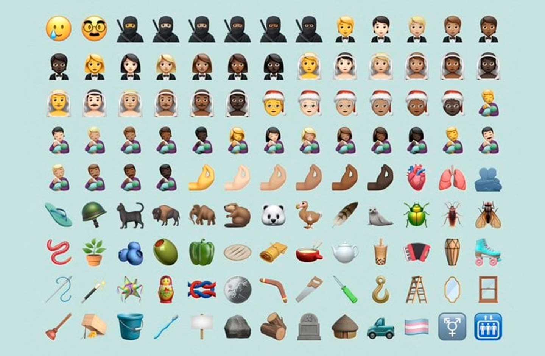 Nuevos emojis para iOS 14.2