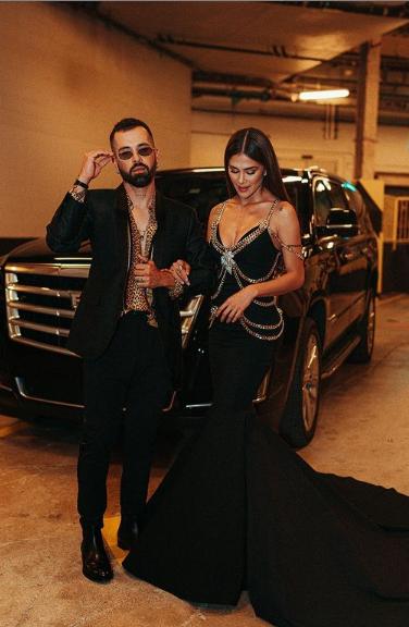 Greeicy y Mike Bahía en los Grammy Latino
