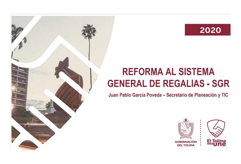 Sistema General de Regalías en el Tolima