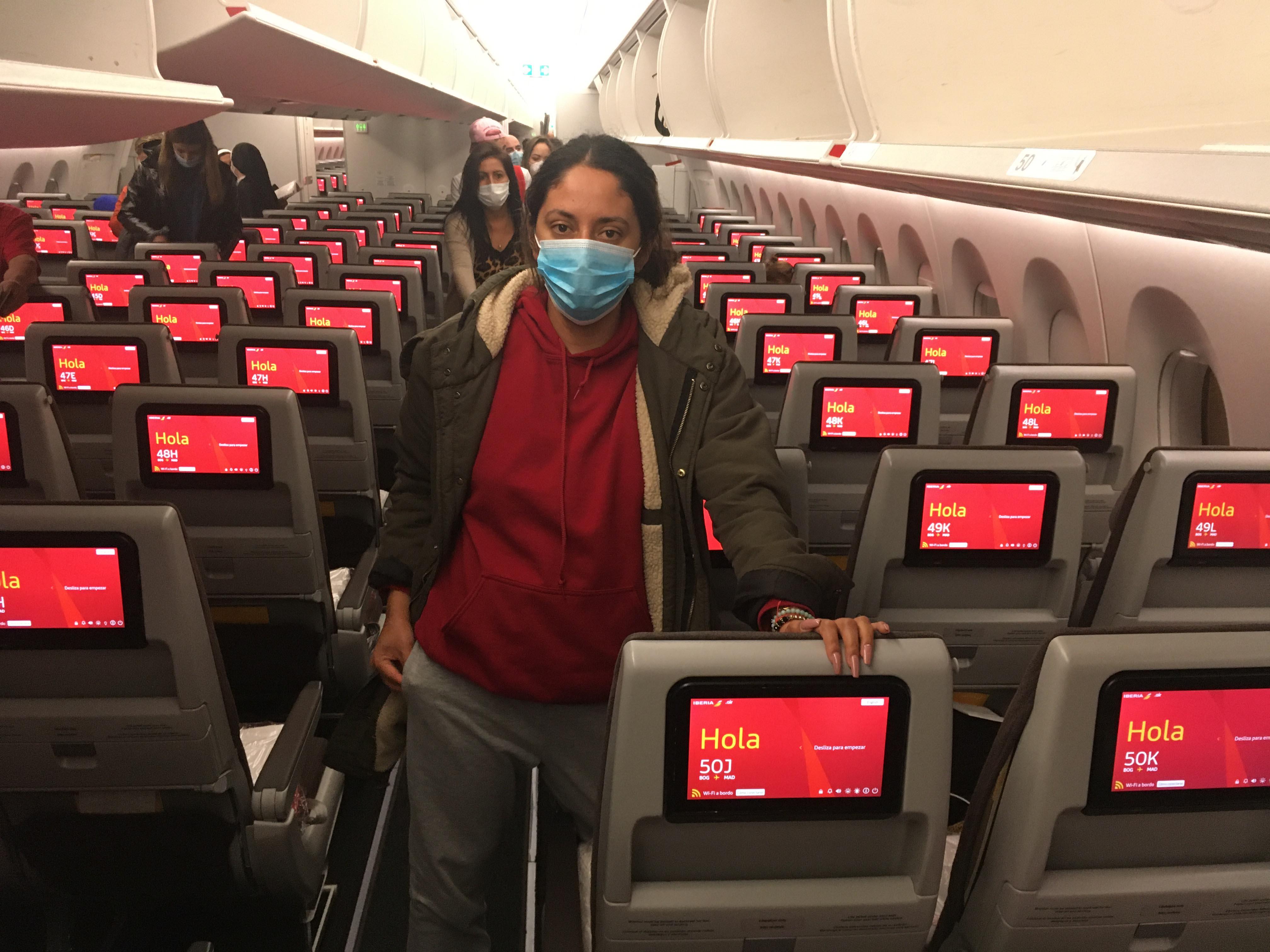 Vuelo Bogotá- Madrid en pandemia.