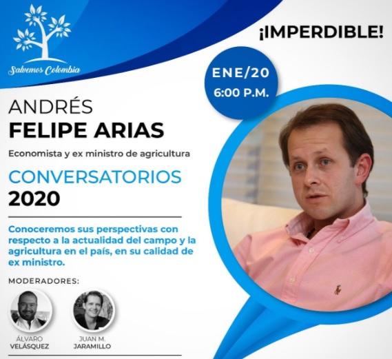Este es el foro en el que participará hoy el exministro Andrés Felipe Arias