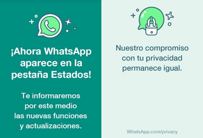 Nuevos estados de WhatsApp
