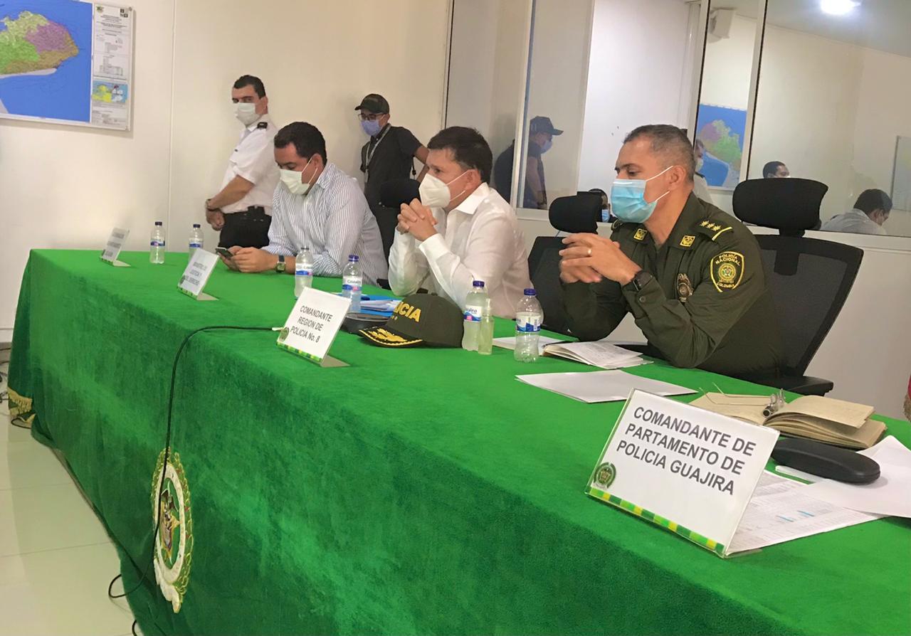 Ministro de justicia se reunió con autoridades locales.