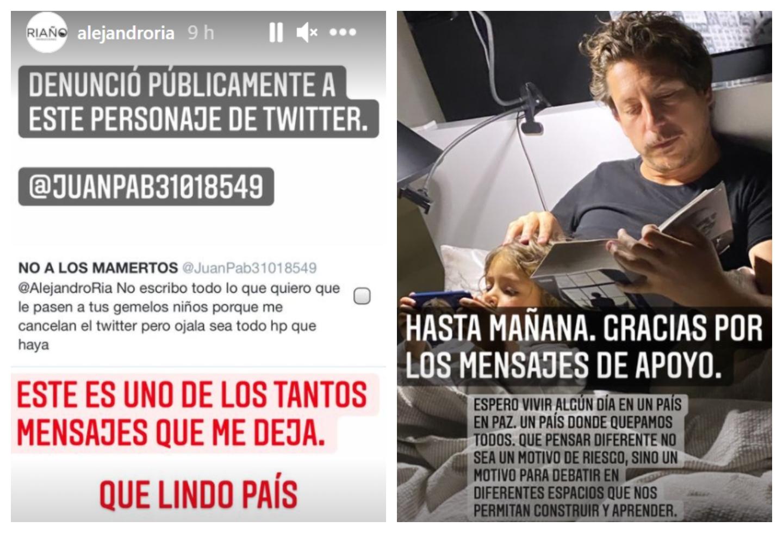 Amenazas contra Alejandro Riaño