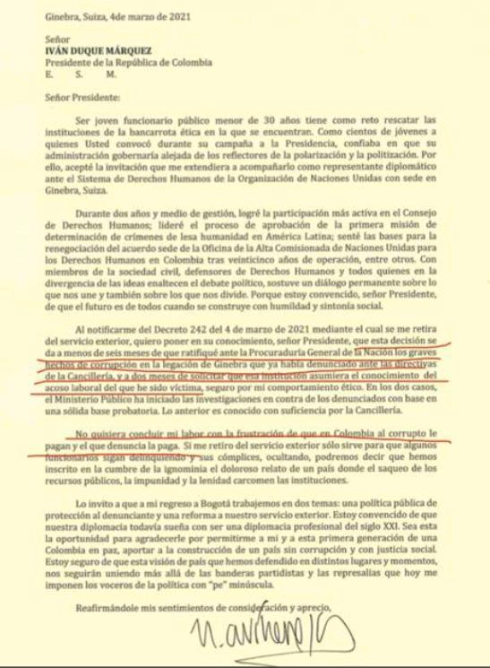 Carta de diplomático