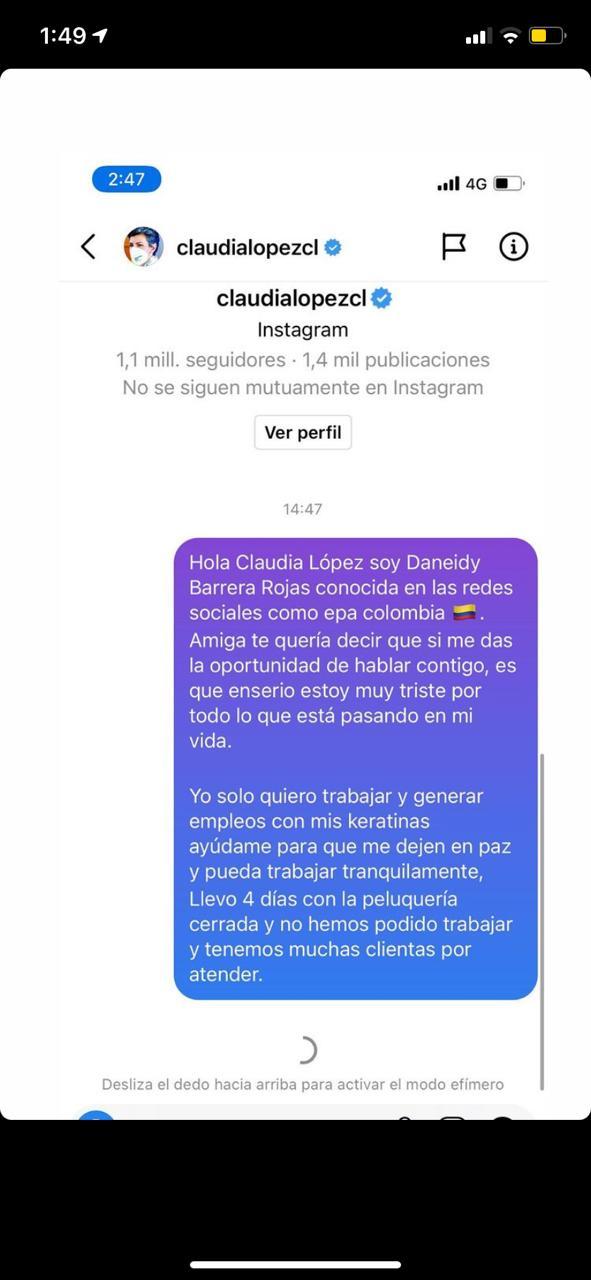 Epa Colombia envió mensaje a Claudia López