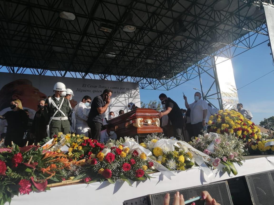 Exequias de Jorge Oñate en La Paz, Cesar