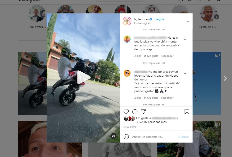 La Liendra hace truco en su Ducati