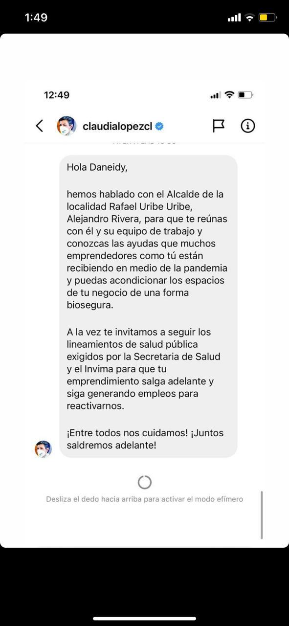 Respuesta Claudia López a Epa Colombia