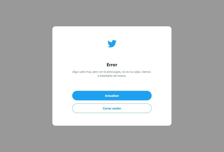 Error en Twitter