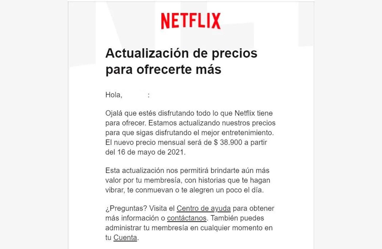 Anuncio emitido Netflix