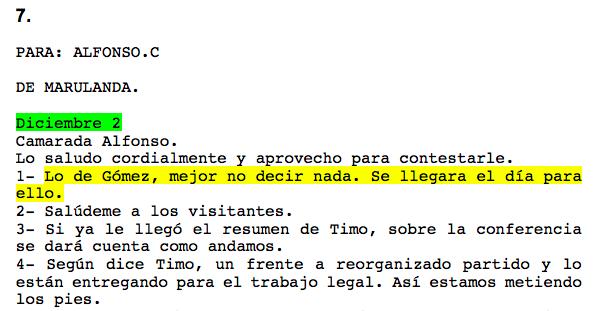 Mensaje Alfonso Cano