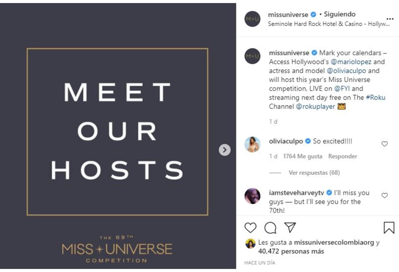 Miss Universo anuncia nuevos presentadores