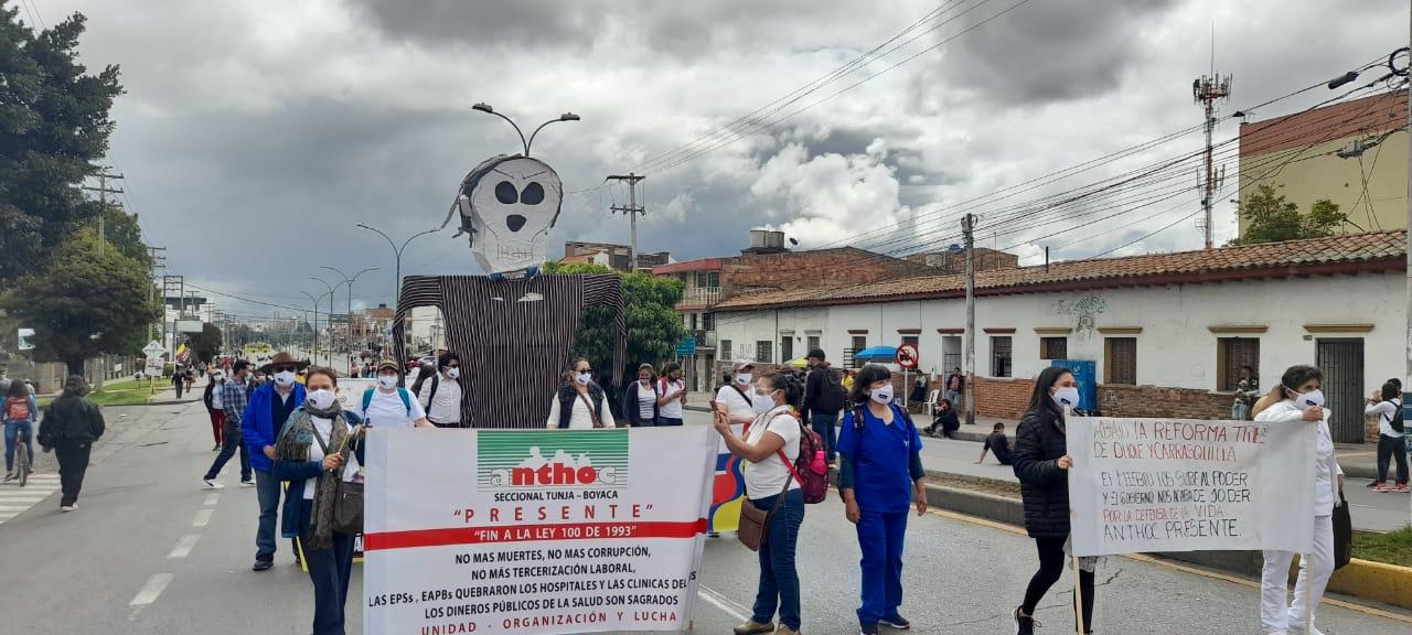 Protestas en Boyacá.