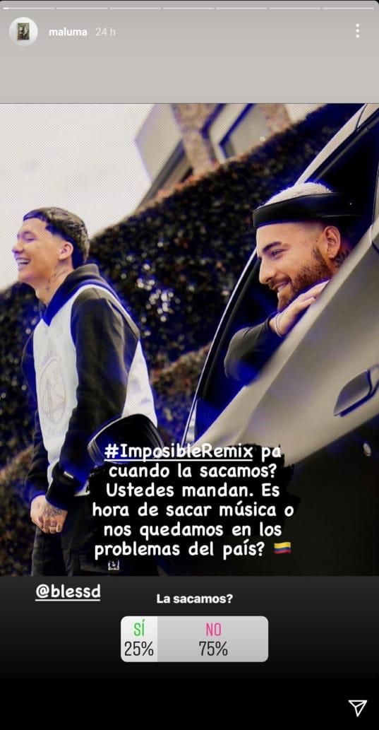 Maluma- Historias de Instagram