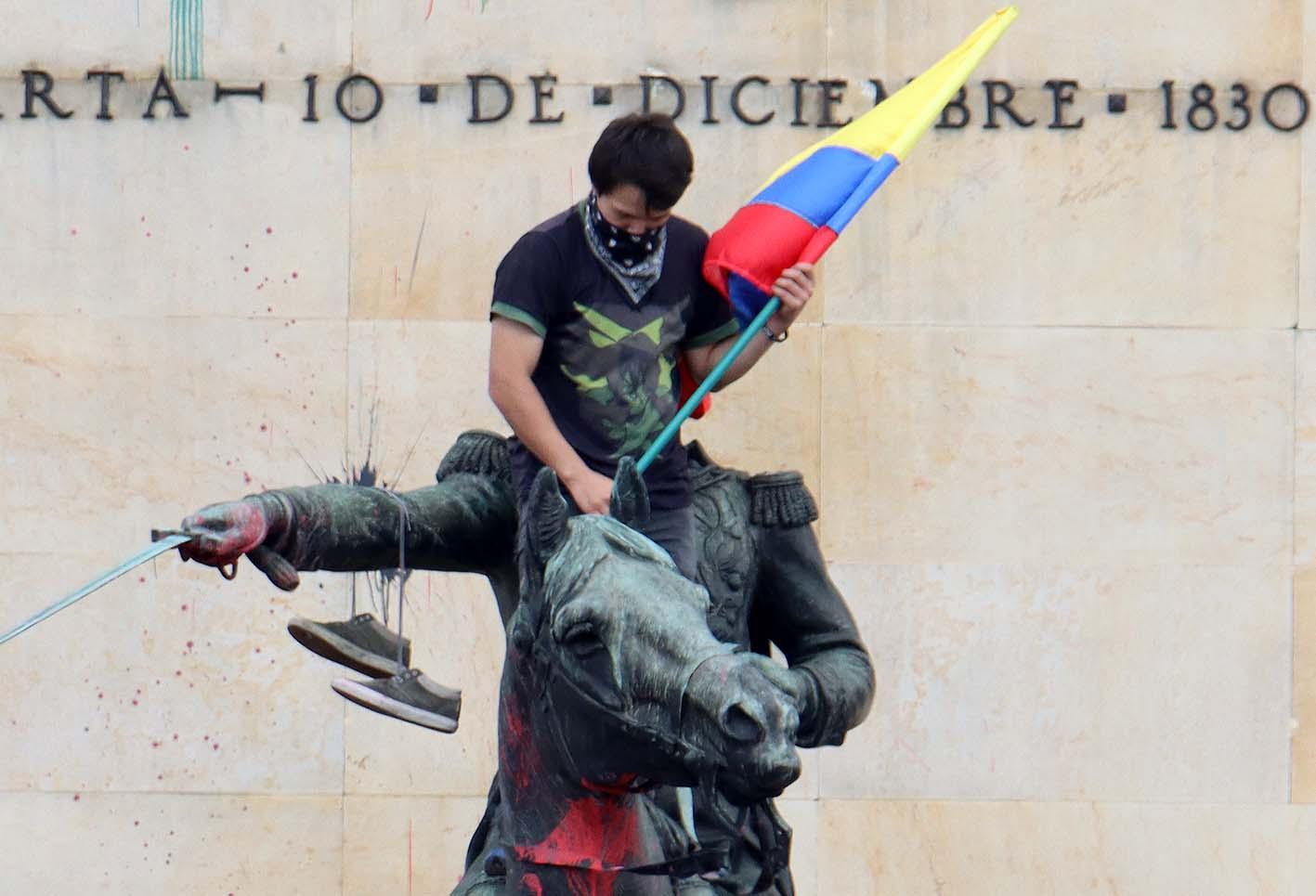 Protestas en Bogotá/Paro nacional el 12 de mayo de 2021