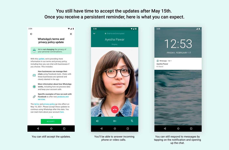 WhatsApp anuncio para el 15 de mayo