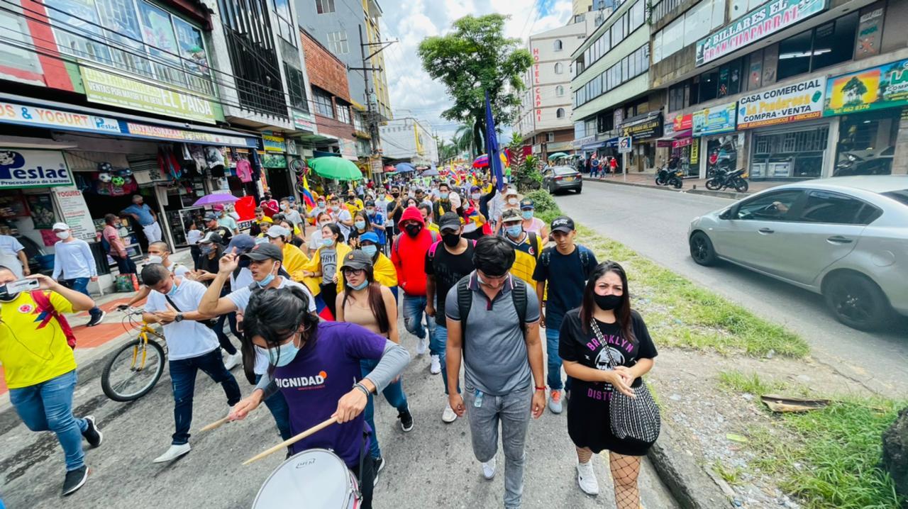 Manifestaciones en Villavicencio.