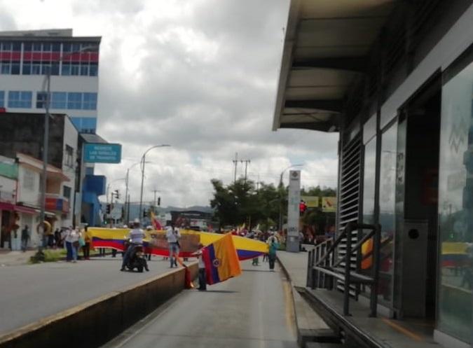 Manifestaciones en Pereira