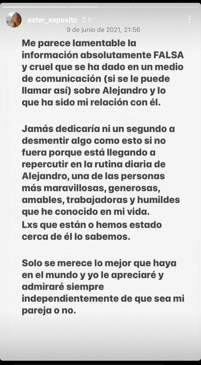 Ester Expósito- Historias de Instagram